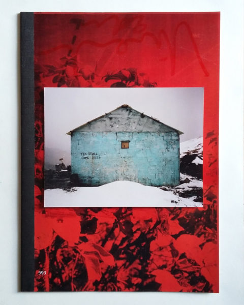 Tea House, 2017, c-print on a unique copy of the collector's b-side edition of book