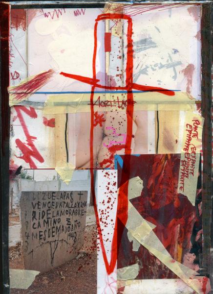 Santeria, 2004 - 2016, Mixed media on paper with plastic, 21 X 29,7 cm - © Vincent Delbrouck
