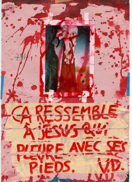 Jesus Llorón, 2008 - 2016, Mixed media on paper, 21 X 29,7 cm - © Vincent Delbrouck