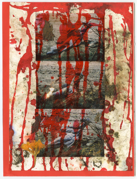 Windy Drips, 2010 - 2015, Mixed media on paper, 24 X 32 cm - © Vincent Delbrouck