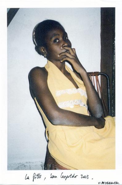 La Fille, 2003, Original Color Photocopy, A4 - © Vincent Delbrouck