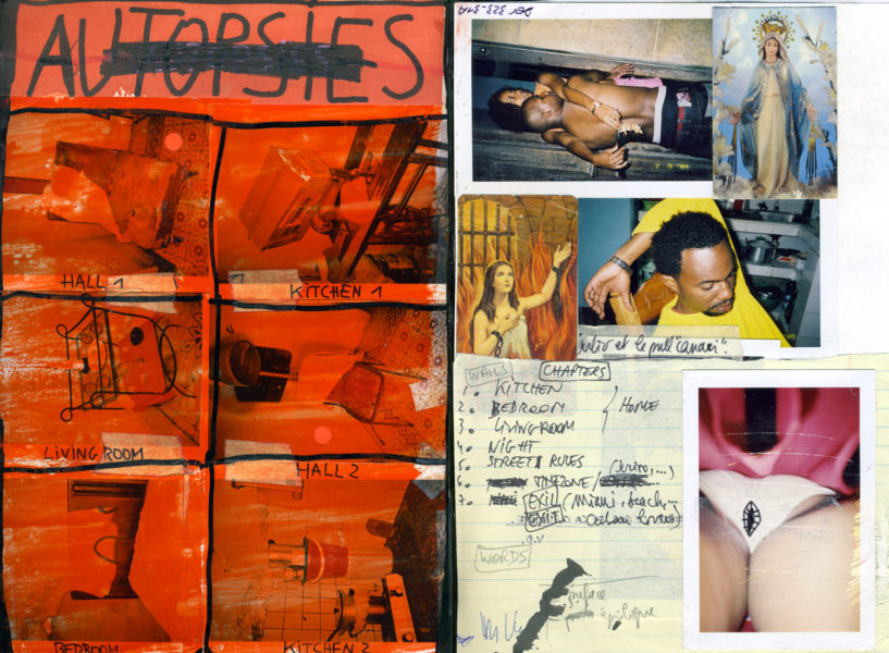 Autopsies Spread, 2003 - 2006, Mixed media on paper (diaries), 29,7 X 42 cm - © Vincent Delbrouck