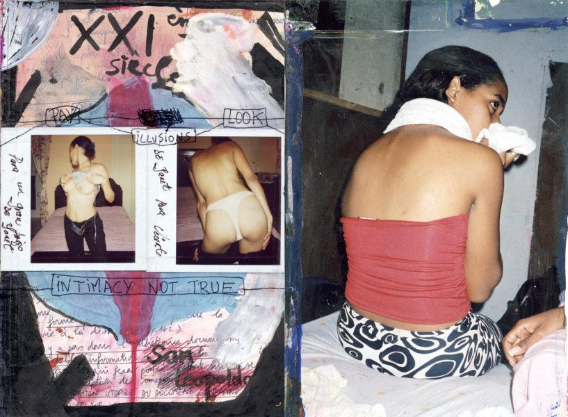 XX1ème Siècle Spread, 2003 - 2006, Mixed media on paper (diaries), 29,7 X 42 cm - © Vincent Delbrouck