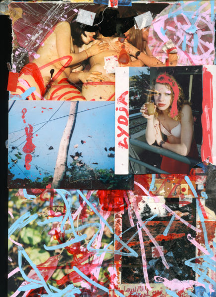 Lydja With Mint Tea, 2007 - 2016, Mixed media on paper, 21 X 29,7 cm - © Vincent Delbrouck