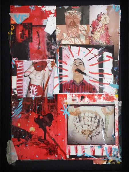 Scream, 2014 - 2017, Mixed media on paper, 21 X 29,7 cm - © Vincent Delbrouck