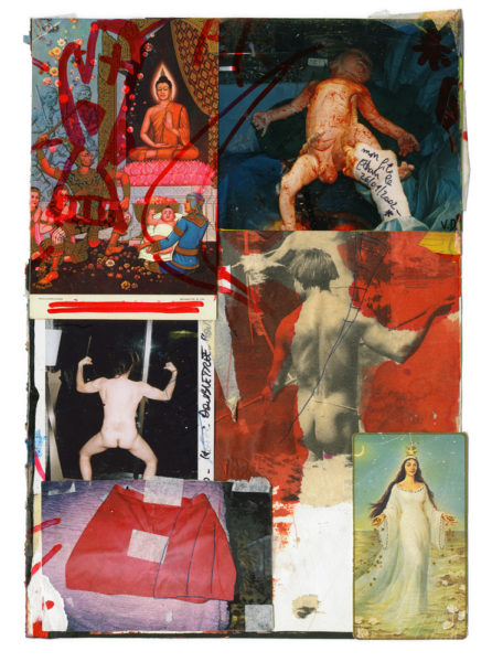 Yemaya, 2002 - 2015, Mixed media on paper, 21 X 29,7 cm - © Vincent Delbrouck