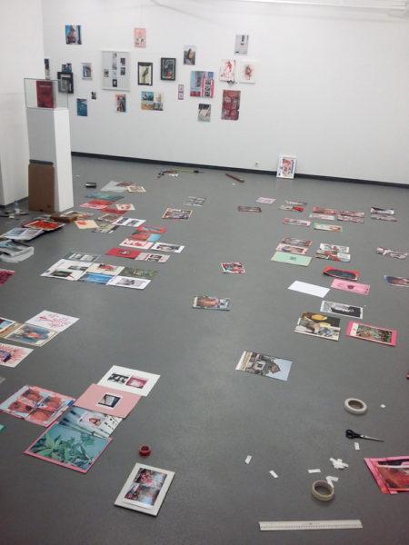 Collage I – Methode (installation process), Fotogalerie, Vienna, 2017 - © Vincent Delbrouck