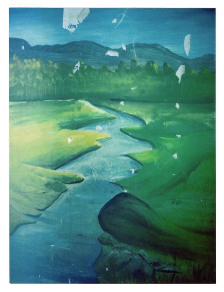 Painted River, 2009, Inkjet print, 24 X 36 cm, Edition of 5 + 2AP - © Vincent Delbrouck